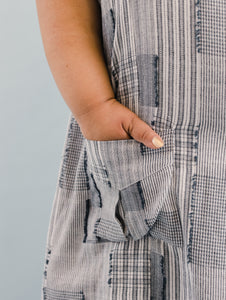 Pocket Dress in Eyelash Plaid