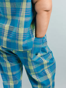 Easy Pant in Blue Plaid