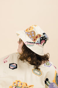 Bucket Hat in Animalia Embroidery
