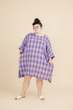 Super Wide Dress in Purple Plaid