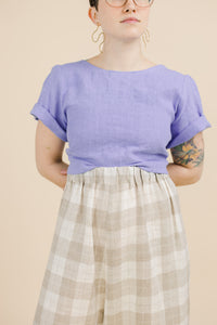 Tied Back to Front Top in Periwinkle