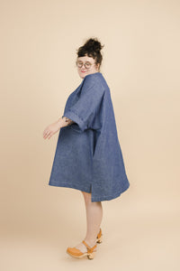Super Wide Dress in Chambray