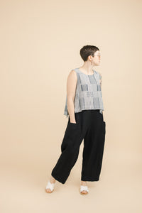 Pocket Pant in Black Linen