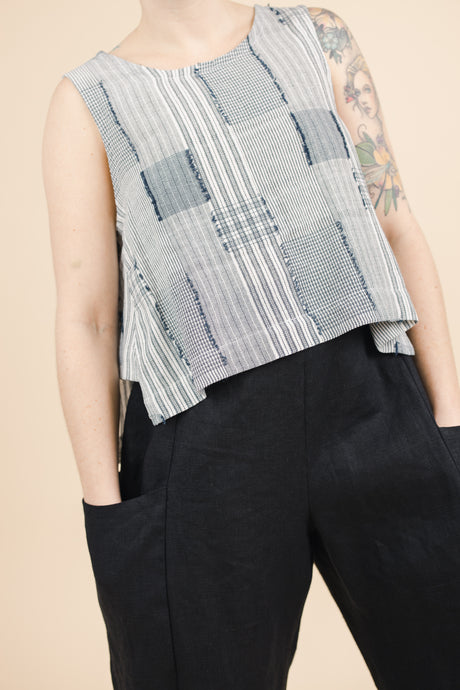 Side Panel Tank in Eyelash Plaid