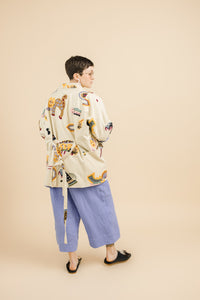 Pocket Jacket in Animalia Embroidery