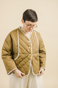 Quilted Jacket in Caramel