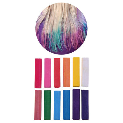 12 Temporary Hair Chalks