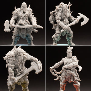 Mini 4 Pack - Assorted Baddies - Hate - Um'Kator - D&D - Unpainted Miniature