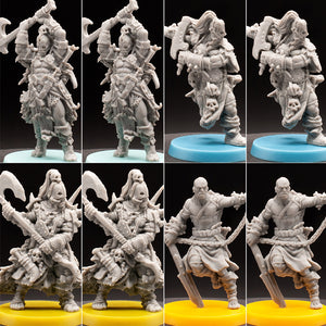 Mega 8 Pack - Wasteland Humans 2 - UmGra - Hate - D&D - Unpainted Miniatures