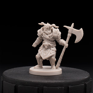 Barbarian Warlord - Monumental - D&D - Unpainted Miniature