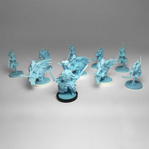 Ten (10) Dragonfly Clan Minis - Rising Sun - D&D - Unpainted - 28-32mm Scale