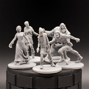 Zombie Pack (5) - Dungeons & Dragons - Unpainted Miniature