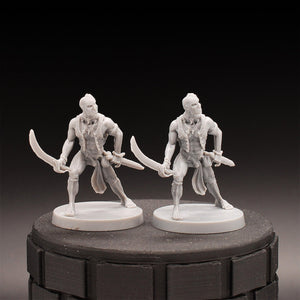 Two (2) Pirates - Dungeons & Dragons - Unpainted Miniature