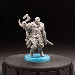 Masked Warrior - Barbarian - Um'Tal - Hate - D&D - Unpainted Miniature