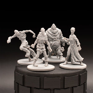 Zombie Pack (4) - Dungeons & Dragons - Unpainted Miniature