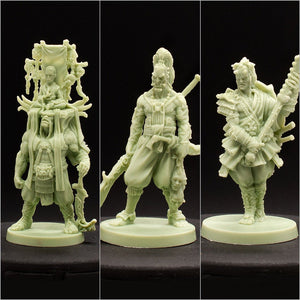 Mini 3 Pack - Turtle Clan - D&D - Unpainted Miniature