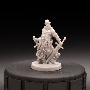 Paladin Fighter - Massive Darkness - D&D - Unpainted Miniature