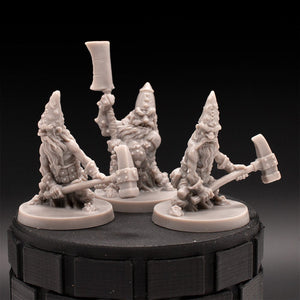 Mini 3 Pack - Dwarves - Massive Darkness - D&D - Unpainted Miniatures