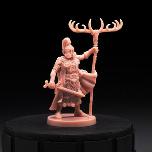 Viking Warlord - Stag Clan Leader - Blood Rage (D) - D&D - Unpainted Miniature
