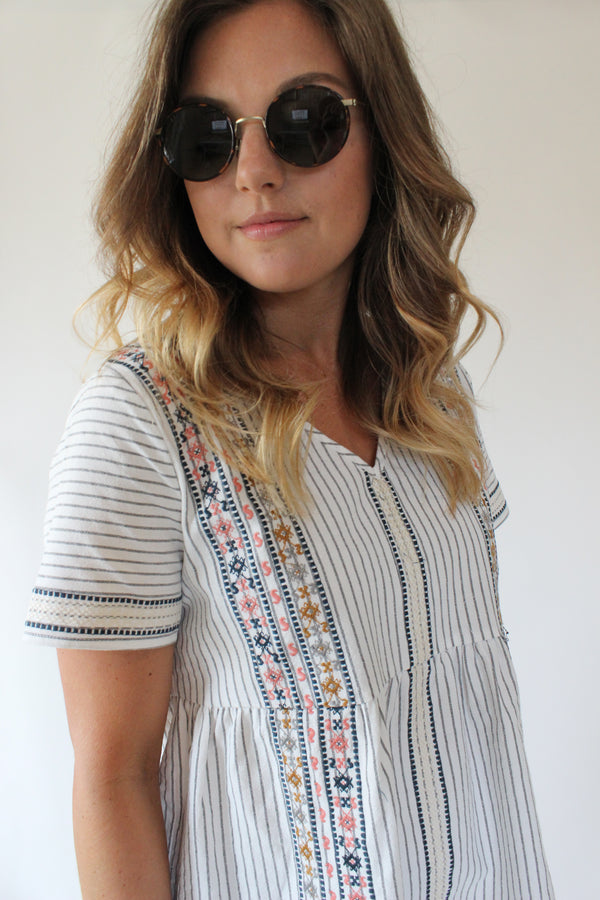 Anthro Stripe Top
