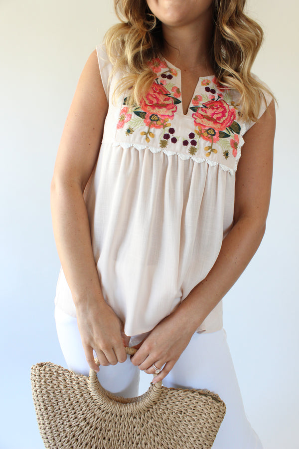 Rosie Embroidered Top