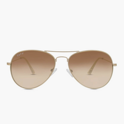Cruz Matte Gold Diff Sunglasses