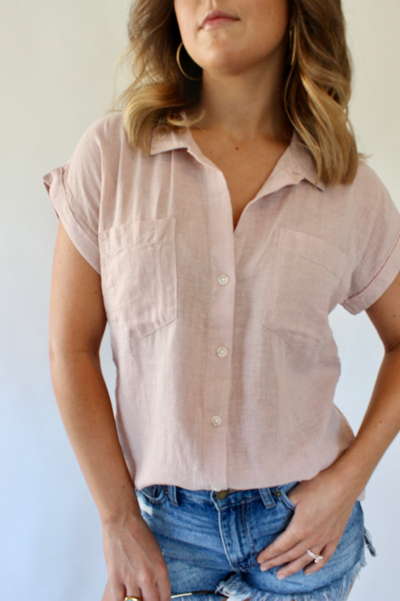 Jalene Button Up Linen Top