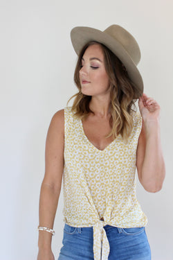 Rise and Shine Tie Front Top