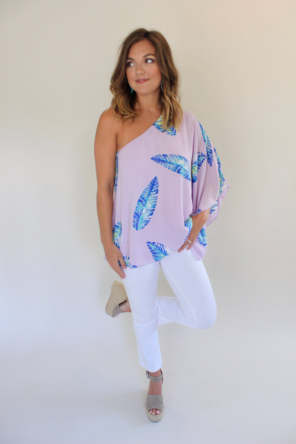 All Things Tropical One Shoulder Top