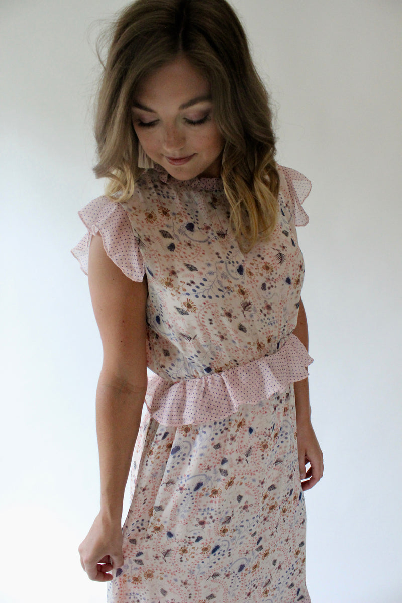 Delilah Floral Midi Dress