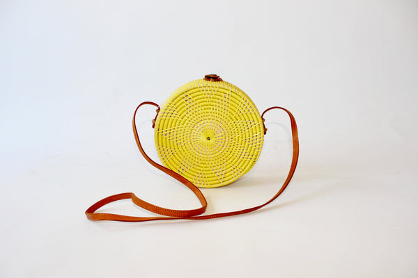 Rattan Circle Crossbody Bag