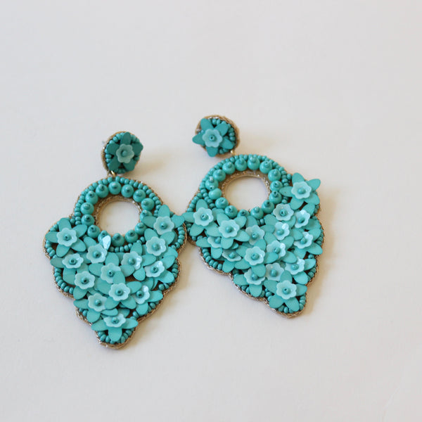 Turquoise Tear Drop Statement Earring