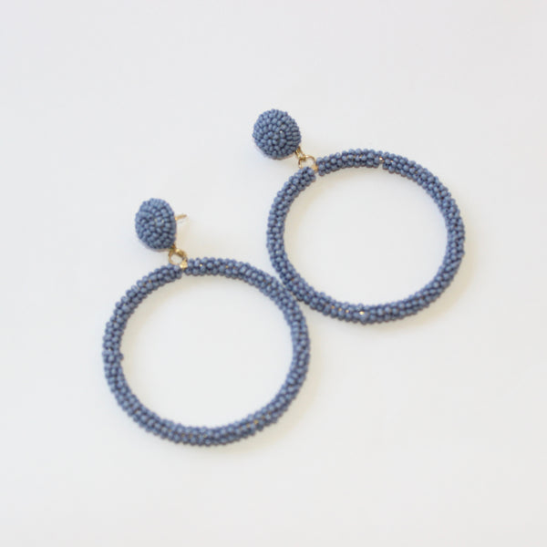 Large Hoop Bead Earring