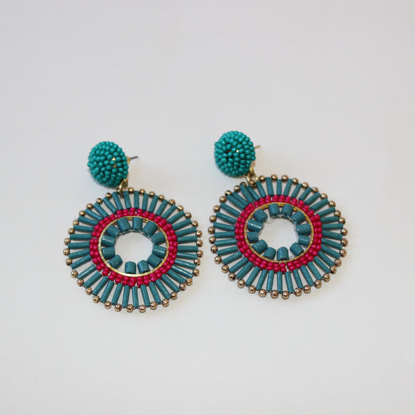 Fiesta Bead Statement Earring