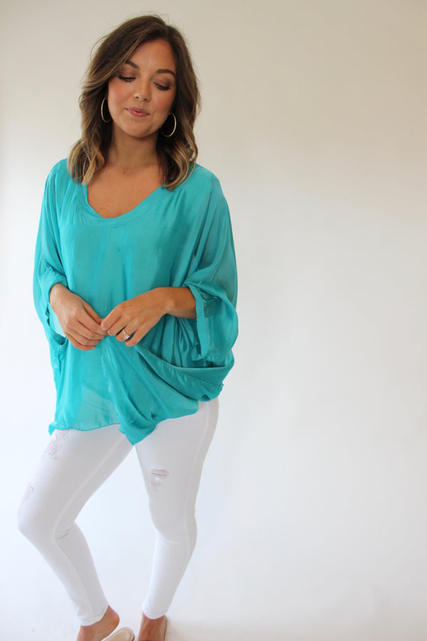 Teal Dreams Top