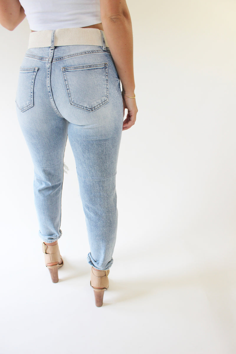 Eunina High Rise Mom Jean