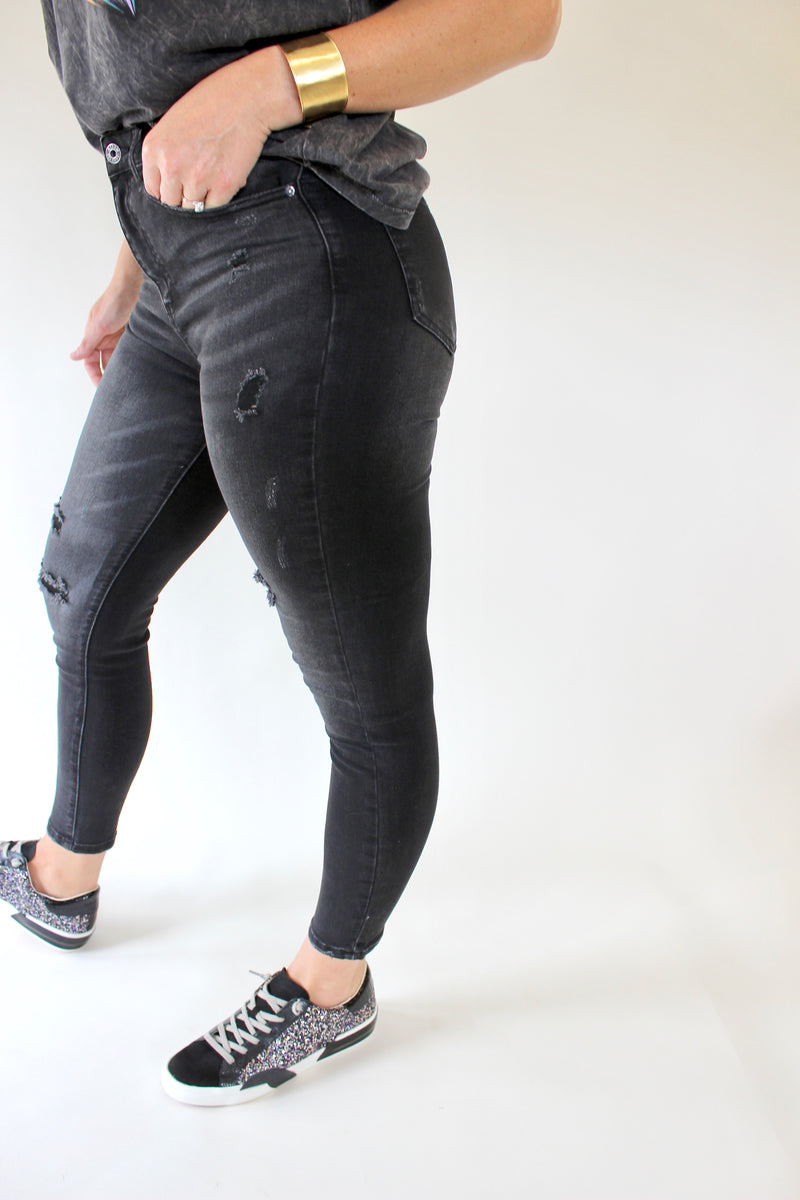 Camden High Rise Ankle Skinny Denim