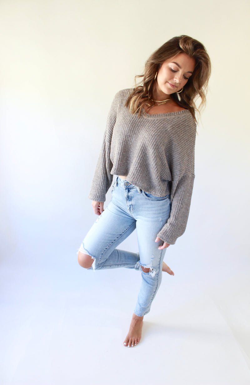 Chocolate Spells Cropped Sweater