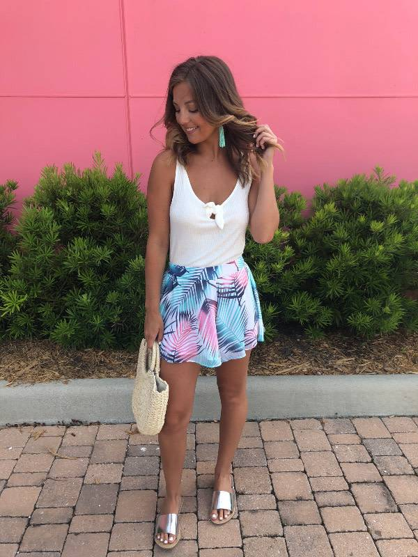 Tropical Print Swing Shorts