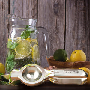 Nuvantee Lemon Squeezer - Quality 18/10 Stainless Steel Manual Citrus Press With Lemon Recipes Ebook