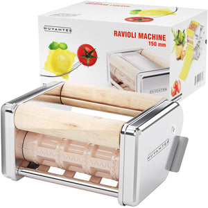 Nuvantee Ravioli Maker Attachment - 150 mm Detachable Ravioli Cutter - Stainless Steel Ravioli Machine