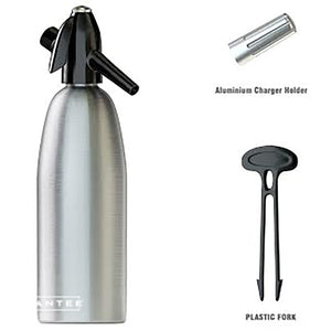 Nuvantee Soda Siphon - Ultimate Soda Maker - Aluminum - 1 Liter - With Free Cocktail Recipes (e-book)