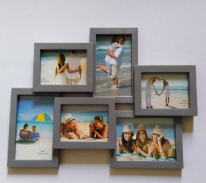 Multi-Picture Grey Frame and PhotoLIVE-AR paper - 6 Sheets