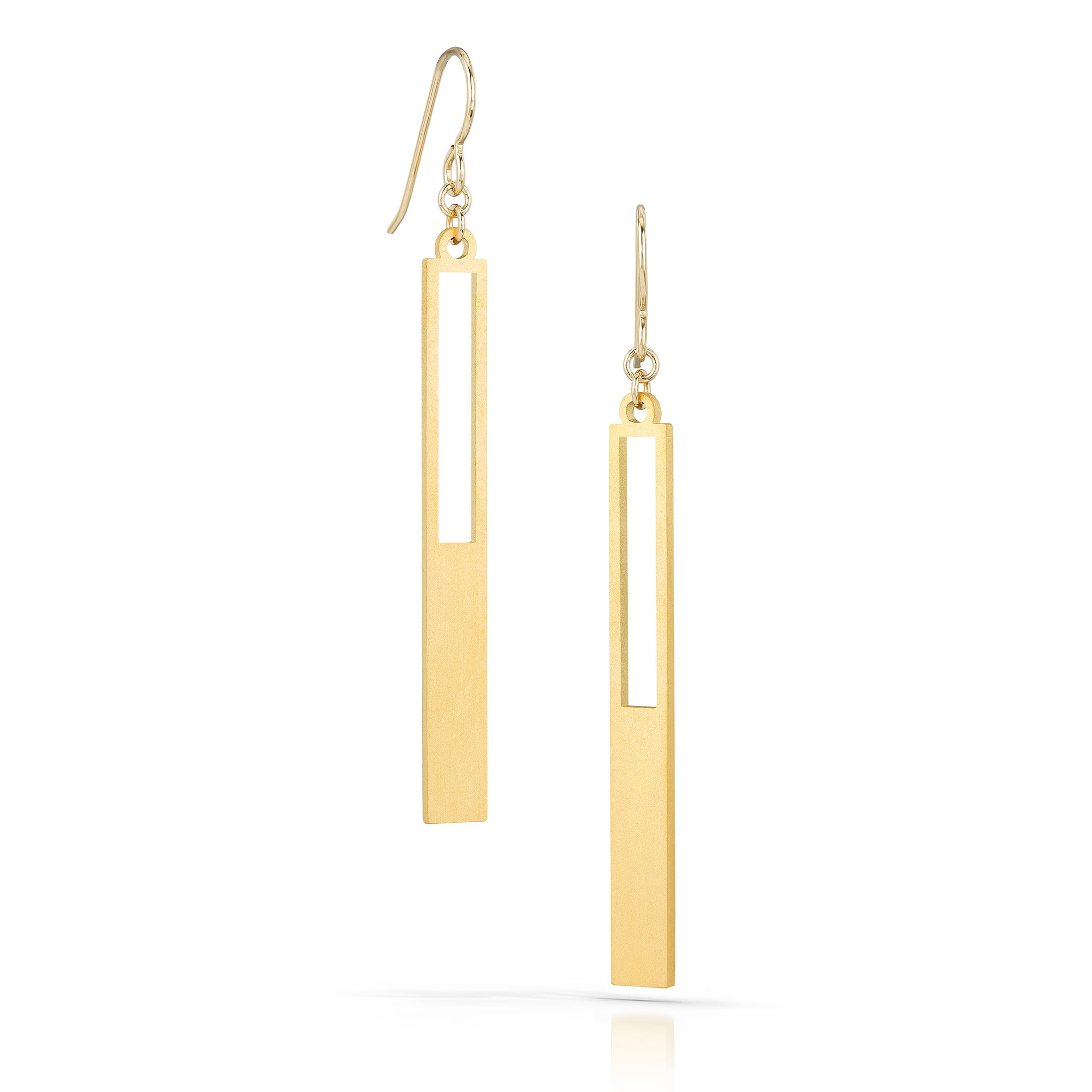 anni earrings, 18k gold-plated