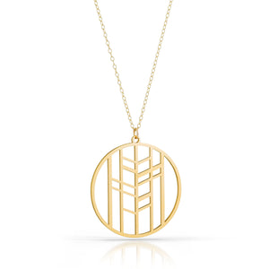 foresta necklace, 18k gold-plated