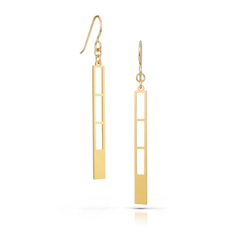 cascade earrings, 18k gold-plated