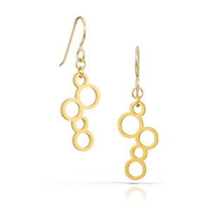 circles earrings, 18k gold-plated