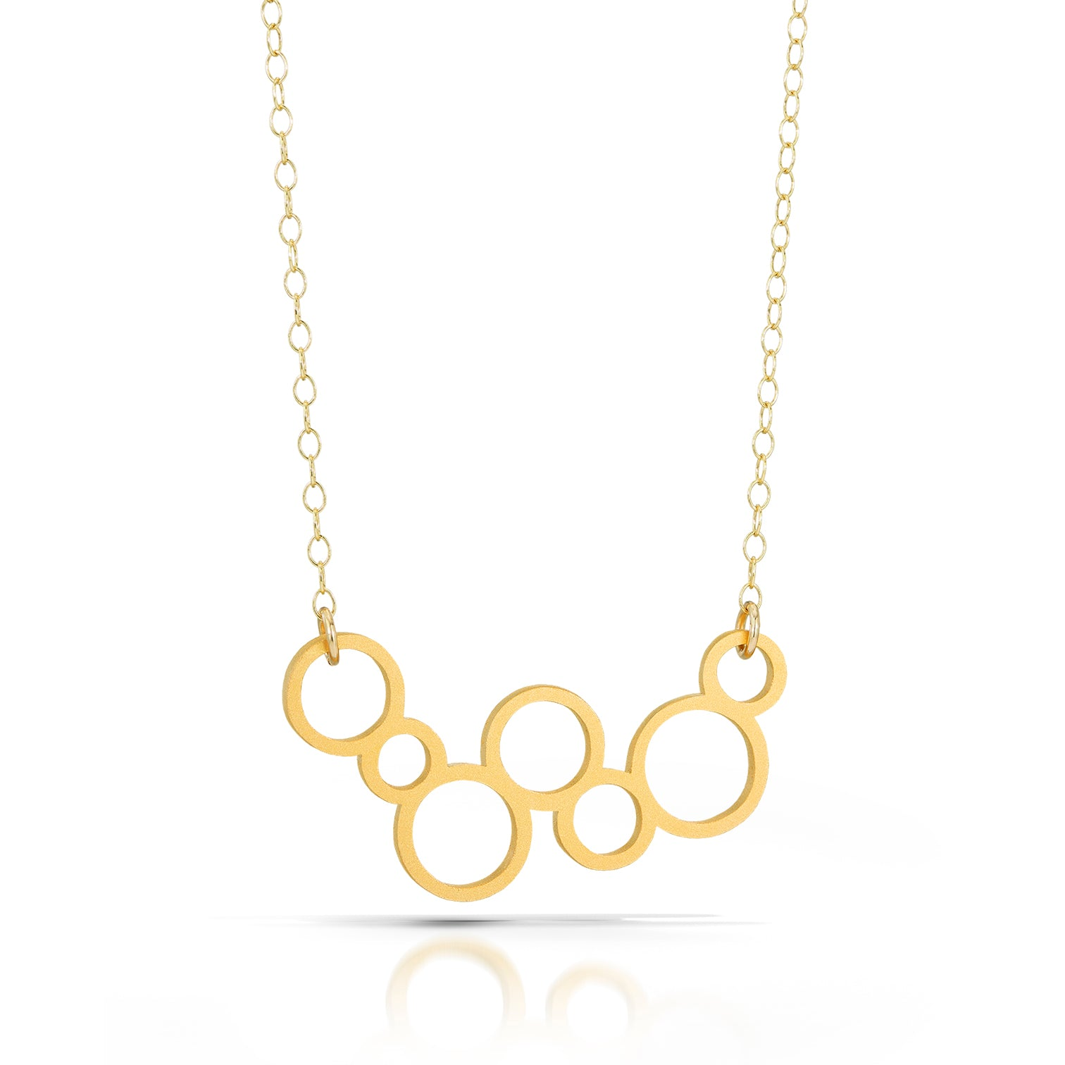 circles necklace, 18k gold-plated