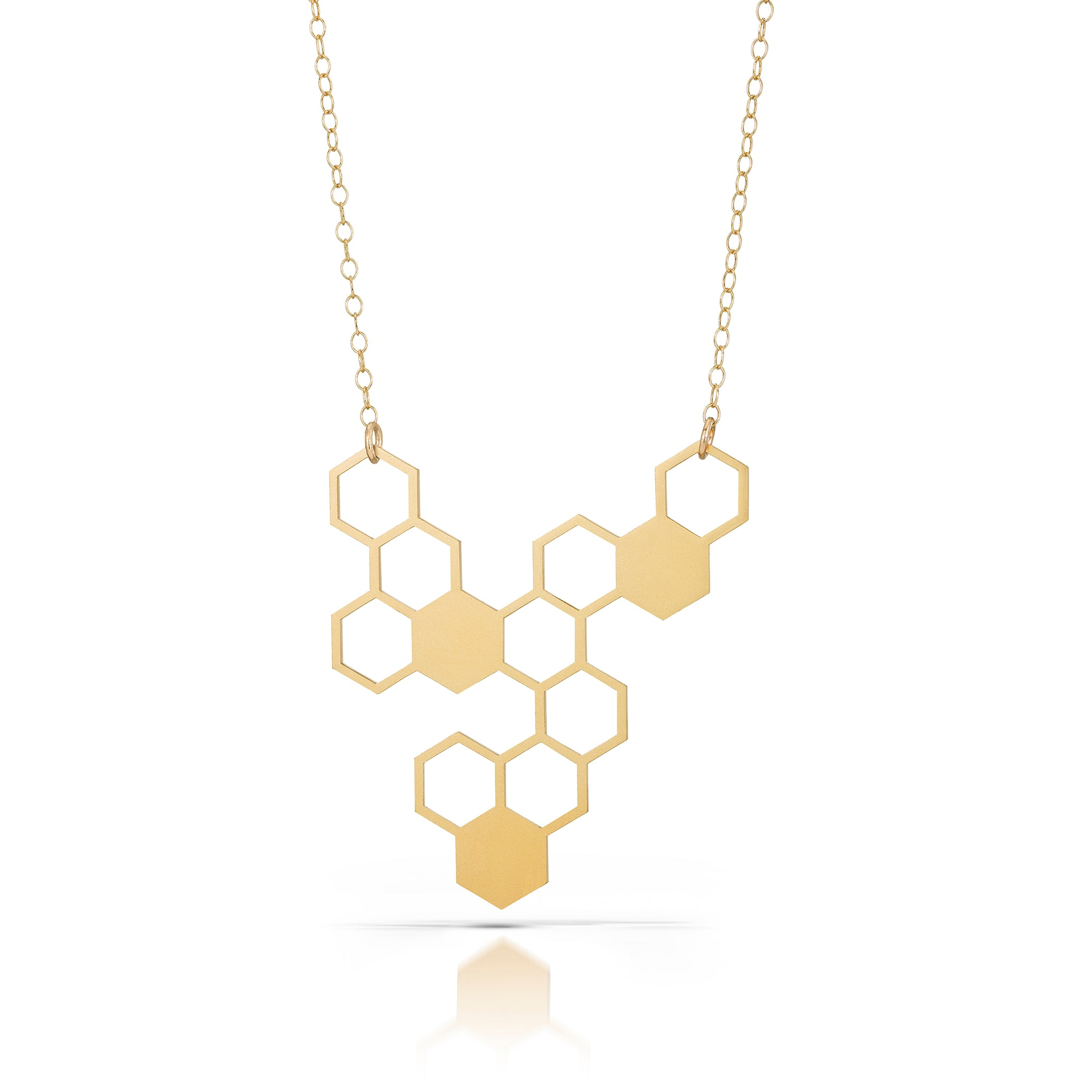 hive necklace, 18k gold-plated