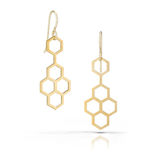 favo earrings, 18k gold-plated
